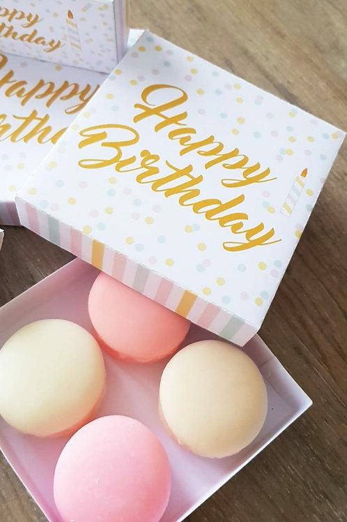 Box Happy birthday (4 macarons)
