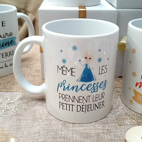 "..Mug - Elsa ""Même les princesses"".."