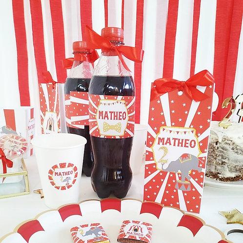 Etiquettes petites bouteilles x12 - Circus ..