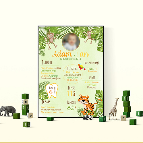 .. Affiche Anniversaire - Jungle Party ..