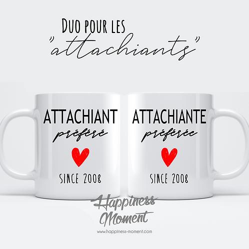 """..Duo Mugs - """"Attachiants"""".."""