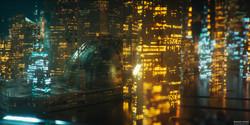 Futuristic Sci-fi City CG
