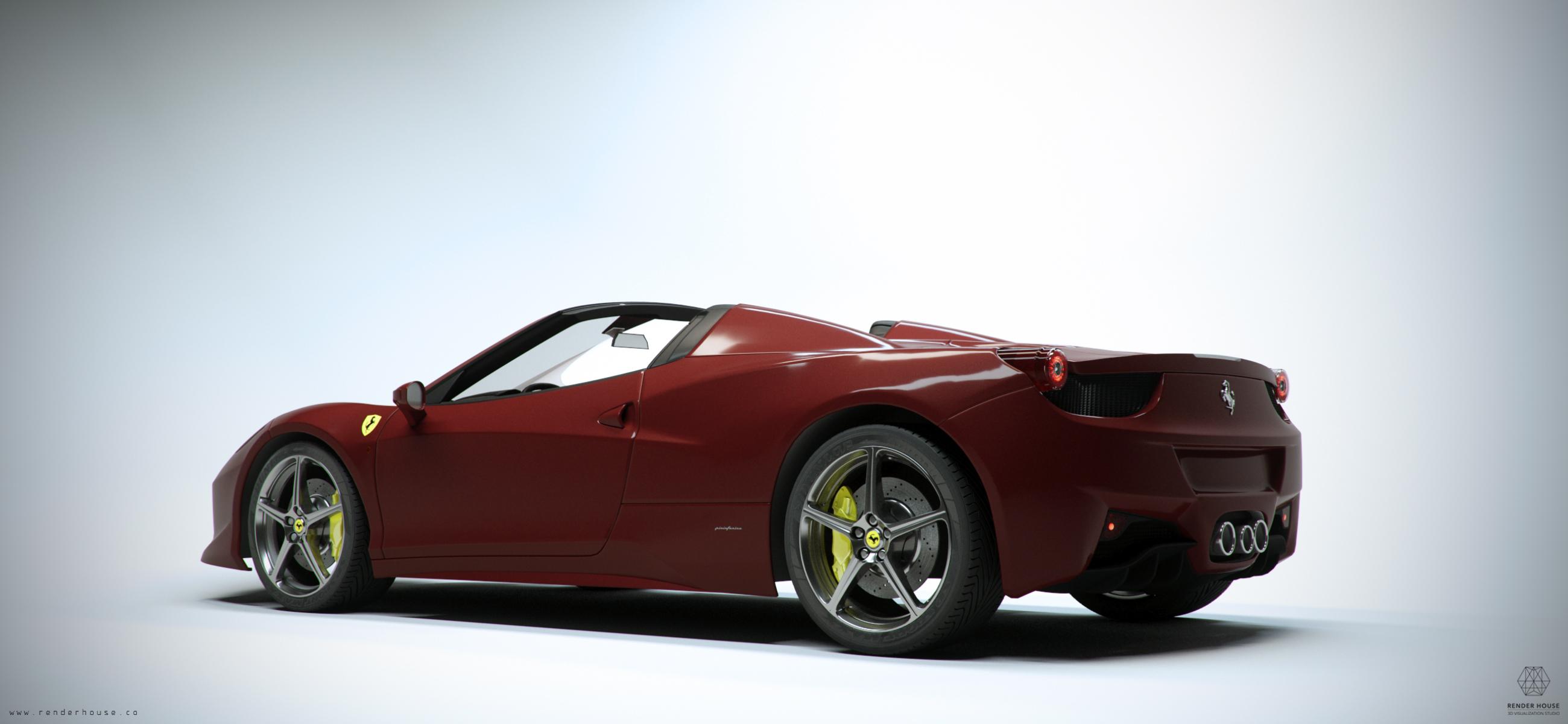 Ferrari 458 Spyder Fstorm render