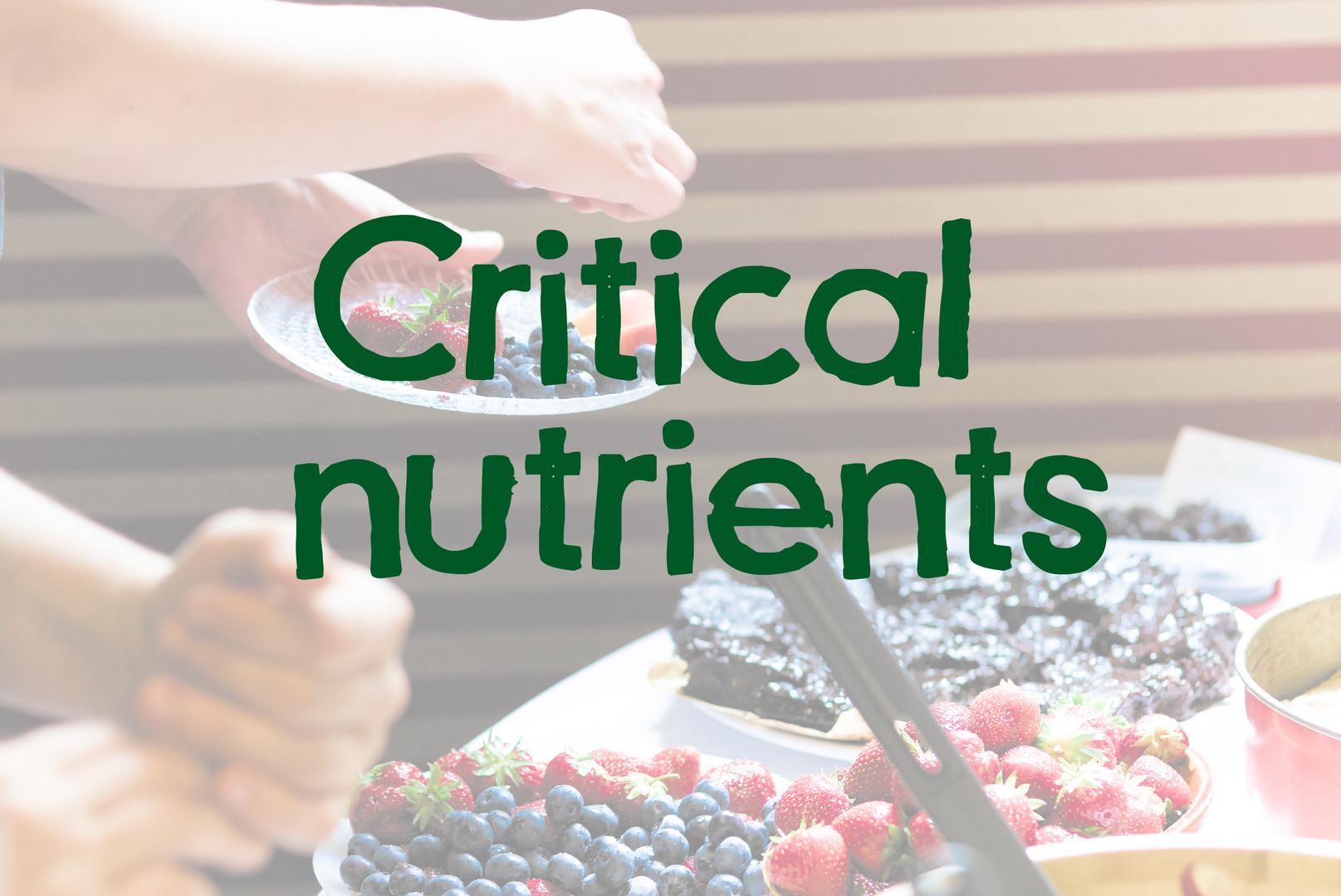 Critical nutrients