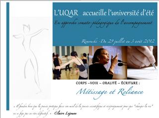 Université d'été 2012, UQAR.