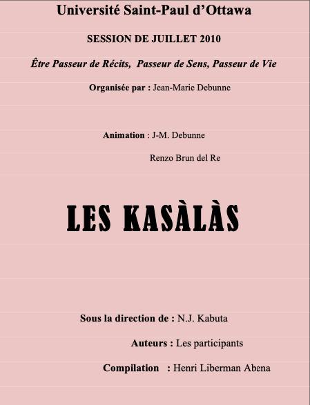 Atelier de kasàlà à Ottawa.