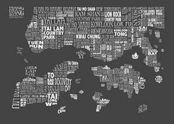 charcoal HONG KONG MAP