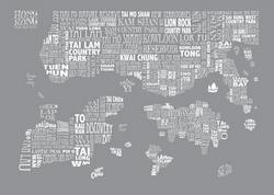 dove grey HONG KONG MAP