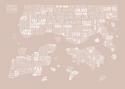 taupe HONG KONG MAP