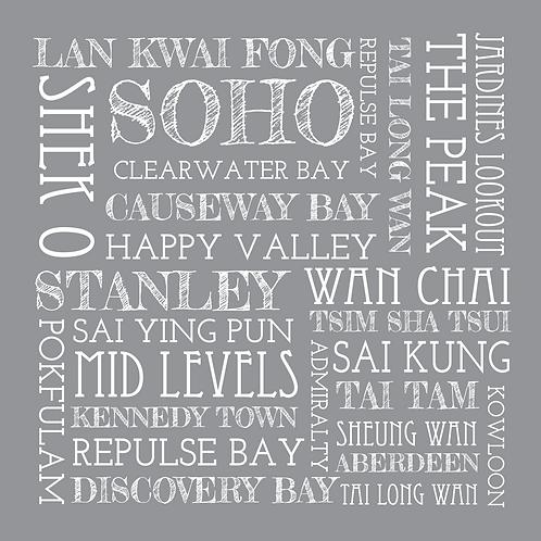 SQUARE HONG KONG PLACES CANVAS