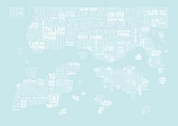 soft aqua HONG KONG MAP