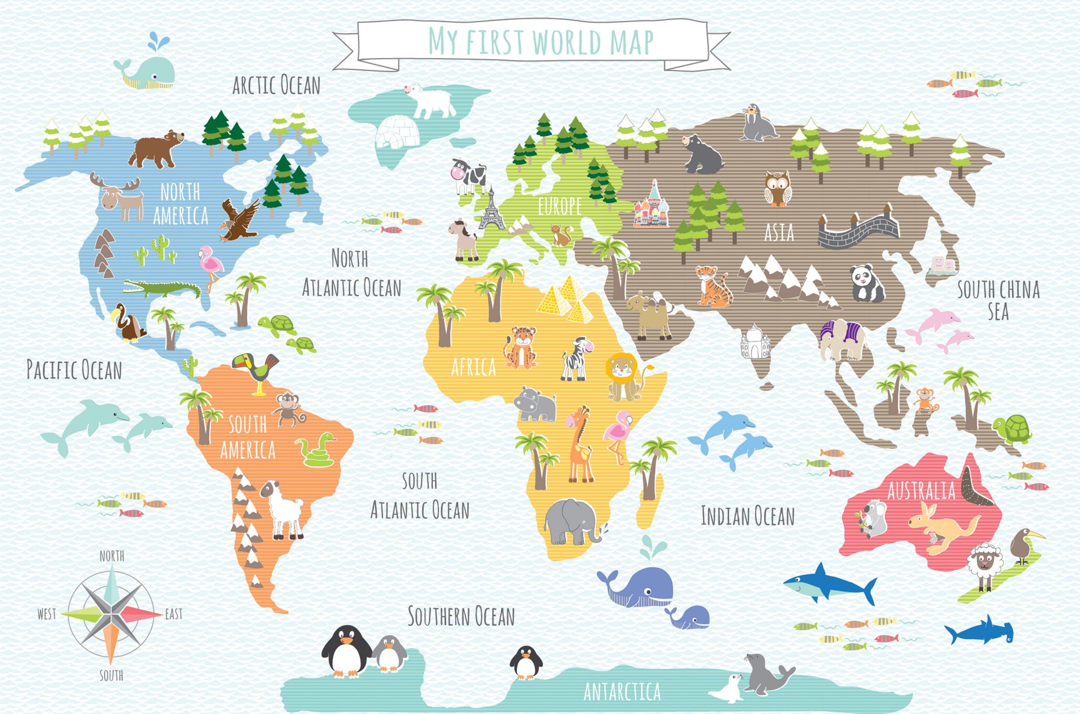 My First World Map Print 50 x 70cm