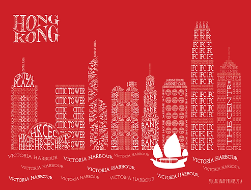 HONG KONG SKYLINE CANVAS