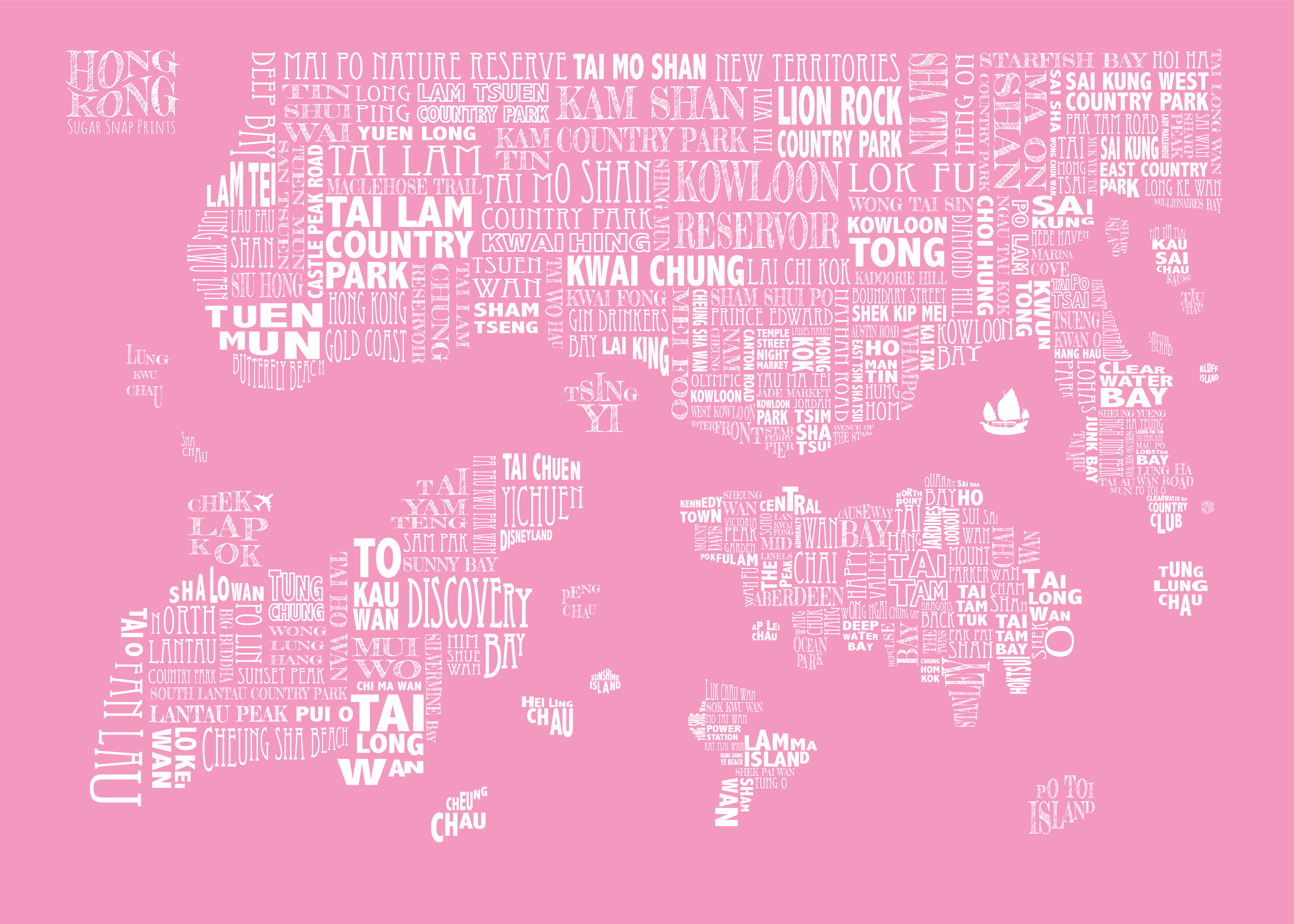 bubblegum HONG KONG MAP