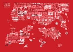 red HONG KONG MAP