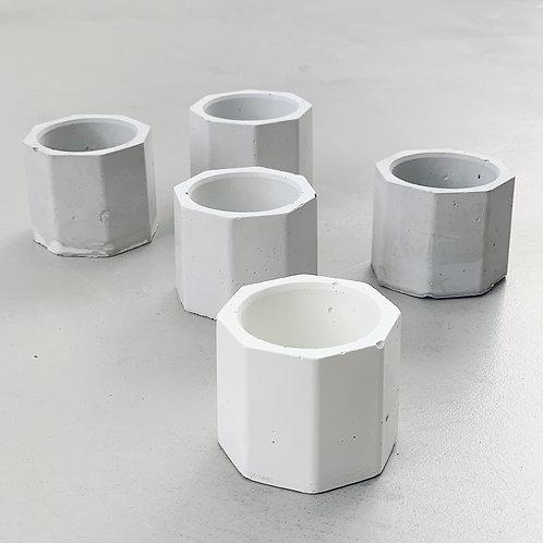 Small Concrete Octagon - Handpoured