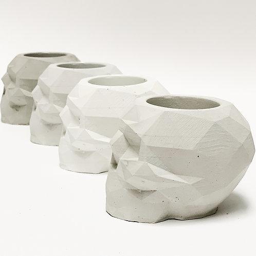 Concrete Skull Votive - Handpoured