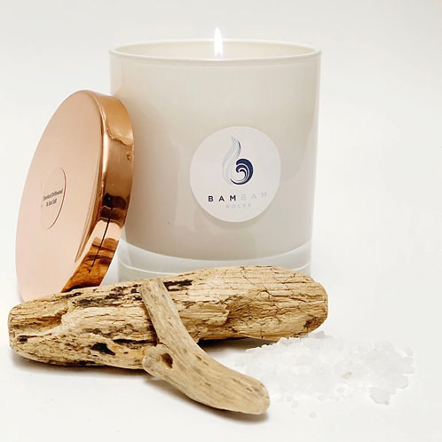 Smoked Driftwood & Sea Salt - Luxury 20cl Soy Candle