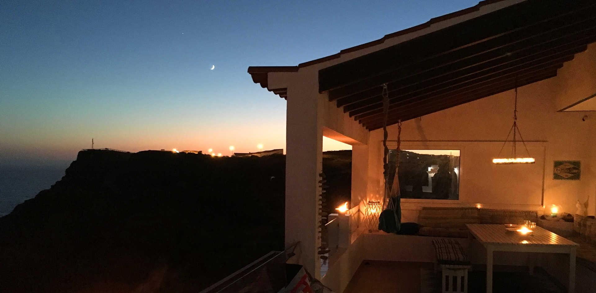 Candlelit BamBam Balcony