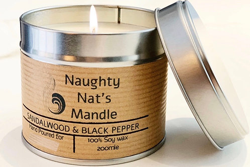 PERSONALISED Large Tin Soy Candle