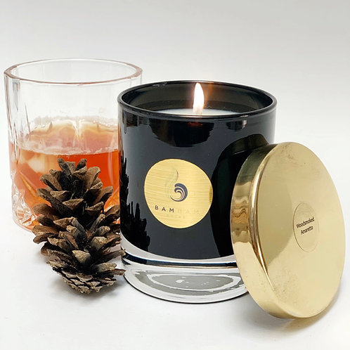 Woodsmoked Amaretto - Luxury 20cl Vegan Soy Candle
