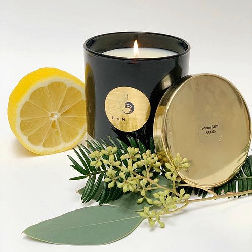 Winter Balm & Oudh - Luxury 20cl Soy Candle