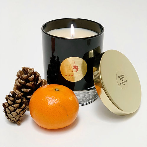 Burnished Orange & Woodsmoked Fir - Luxury 20cl Soy Candle