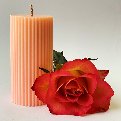 Bramble & Berry - Muted Neon Soy Wax Pillar Candle