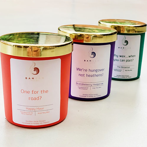 Personalised 9cl Candle Trio Gift Set