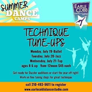 ECDS Summer Camp 2021 Technique Tune Ups