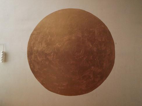 Großer goldener Wandkreis