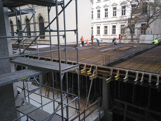 The refurbishment of Londýnská N° 32 Building continues!