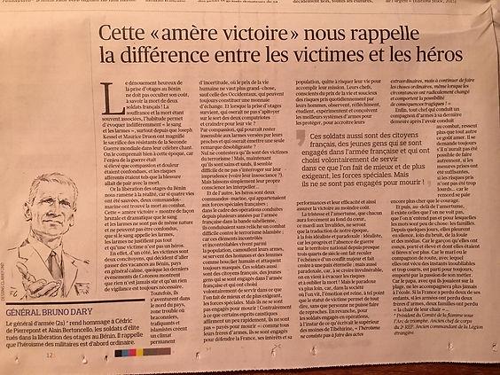 Tribune Gal B. Dary Figaro du 15 mai 19