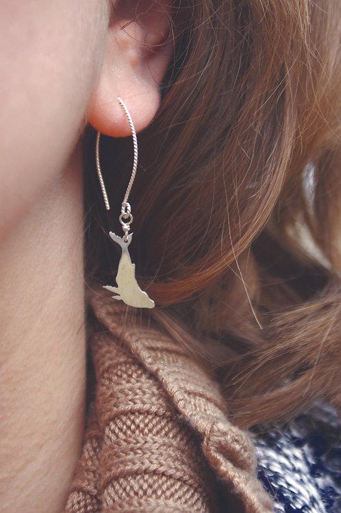 Humpback Whale earrings