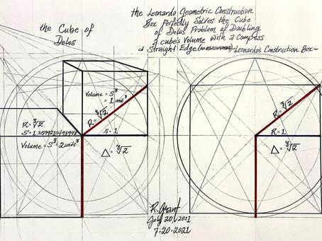 Leonardo Da Vinci Geometric Construction Box Provides Solution To Cube Of Delos Problem