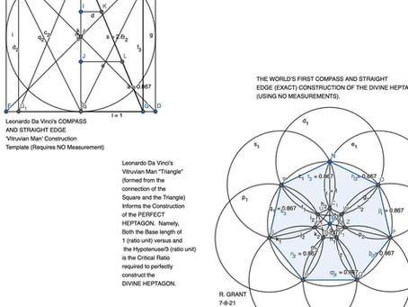 Vitruvian Man Triangle Is A Heptagon Cypher Key