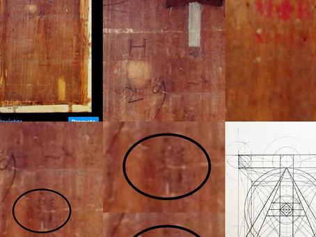 The Back Panel of the 'Mona Lisa' Contains Encrypted Symbology:  T