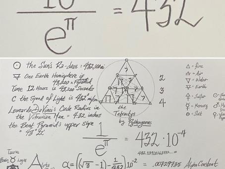 1/(e^π) = 432(10^-4)