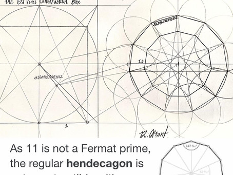 Hendecagon Construction Method Using Only Compass & Square