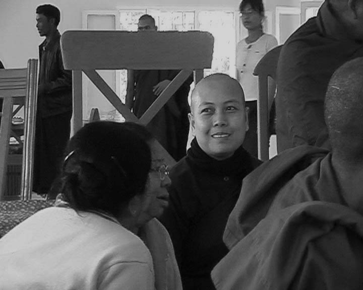 Sayalay and Sangha at Lunch Dana.JPG