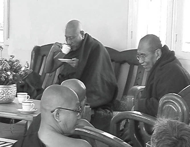 Maha Thero sipping Tea.JPG