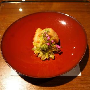 里芋の唐揚げとふきのとうの天ぷら
