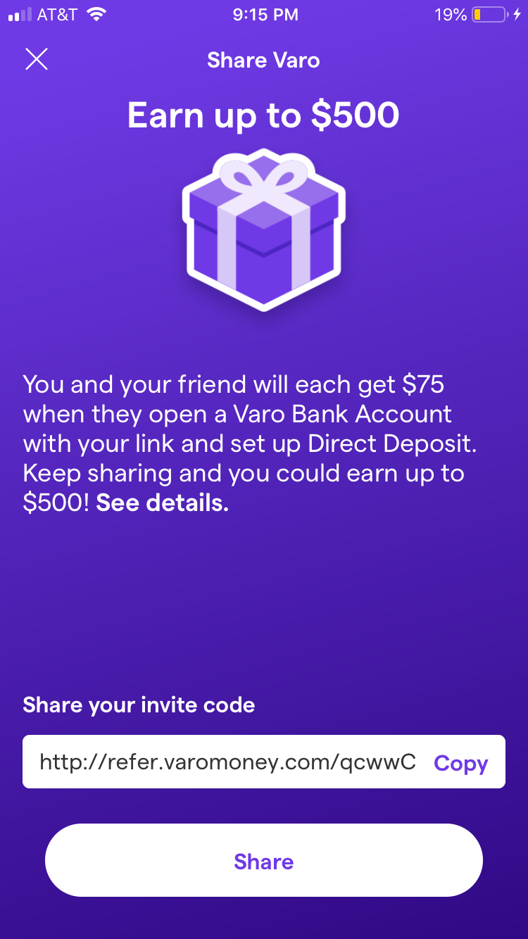 Easy $75 Cash in 10 minutes: Sign up for Varo