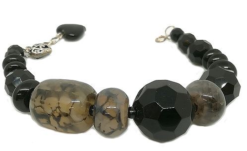 Bracelet Onyx et Agate