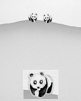 """Boucles d'oreilles """"Panda"""""""