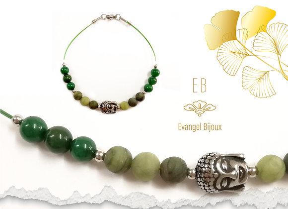Bracelet Jade de Taiwan et Bouddha