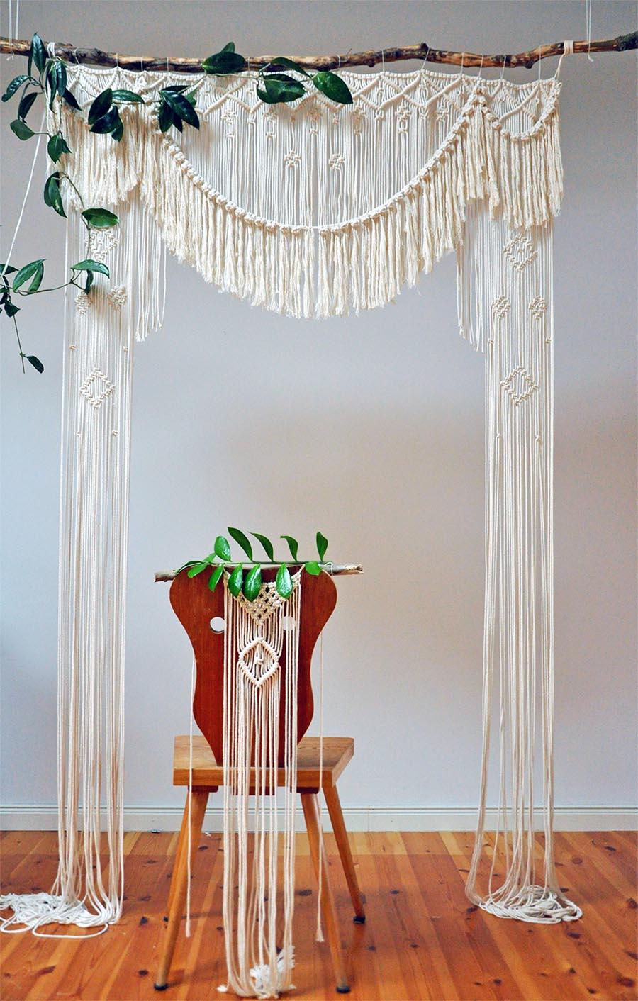 Boho Hochzeitsmakramee