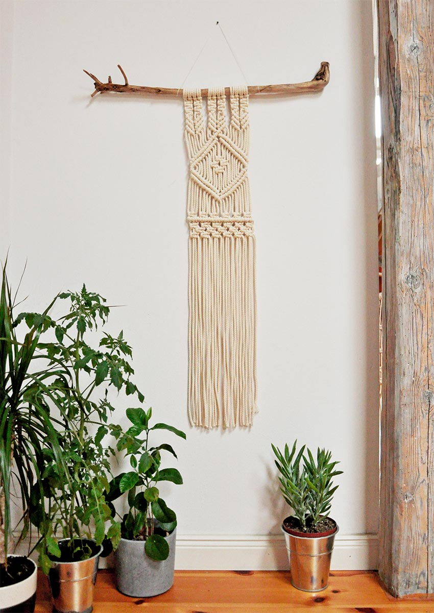 Wanddekoration Makramee Wallhanging