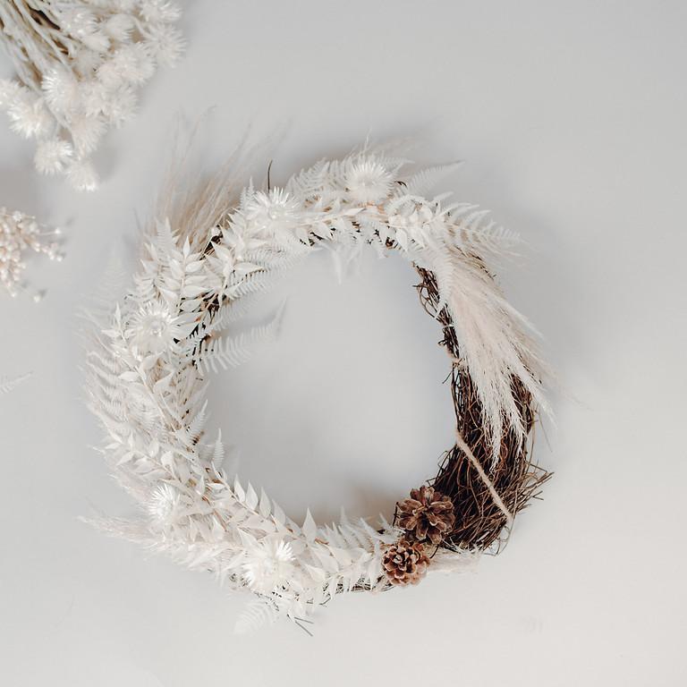 Trockenblumen - Adventskranz binden