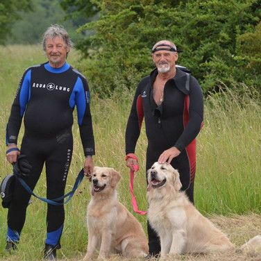 Water rescue dog Belgique travail à l'eau